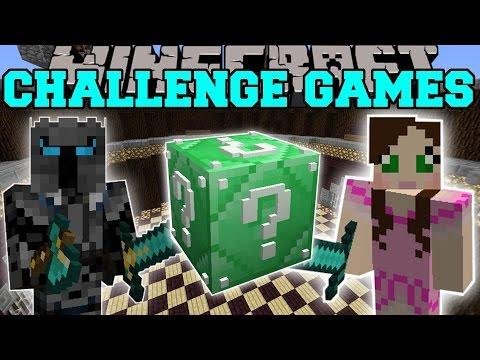 Minecraft: EMERALD SUPER LUCKY BLOCK CHALLENGE GAMES - Lucky Block Mod - Modded Mini-Game