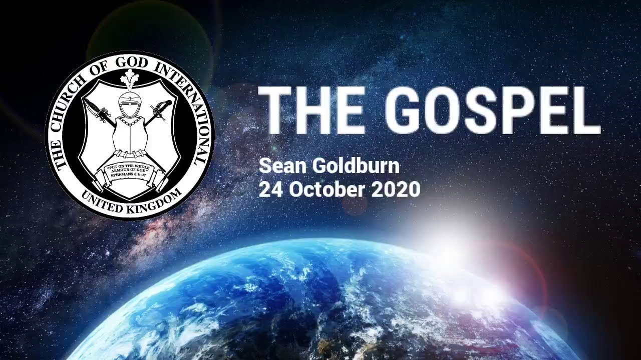 CGI UK - 24 Oct 2020 - The Gospel - Sean Goldburn