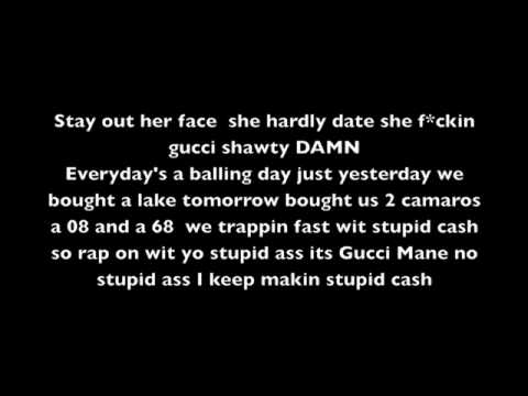 Slumber Party - Gucci Mane ft. Nicki Minaj * Lyrics On Screen*