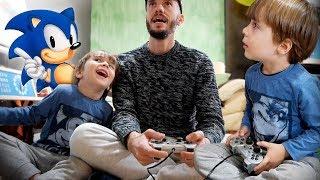 JOGANDO SONIC DO MEGADRIVE NO PLAYSTATION 2!! Videogame com Maikito - Jogo do Sonic The Hedgehog