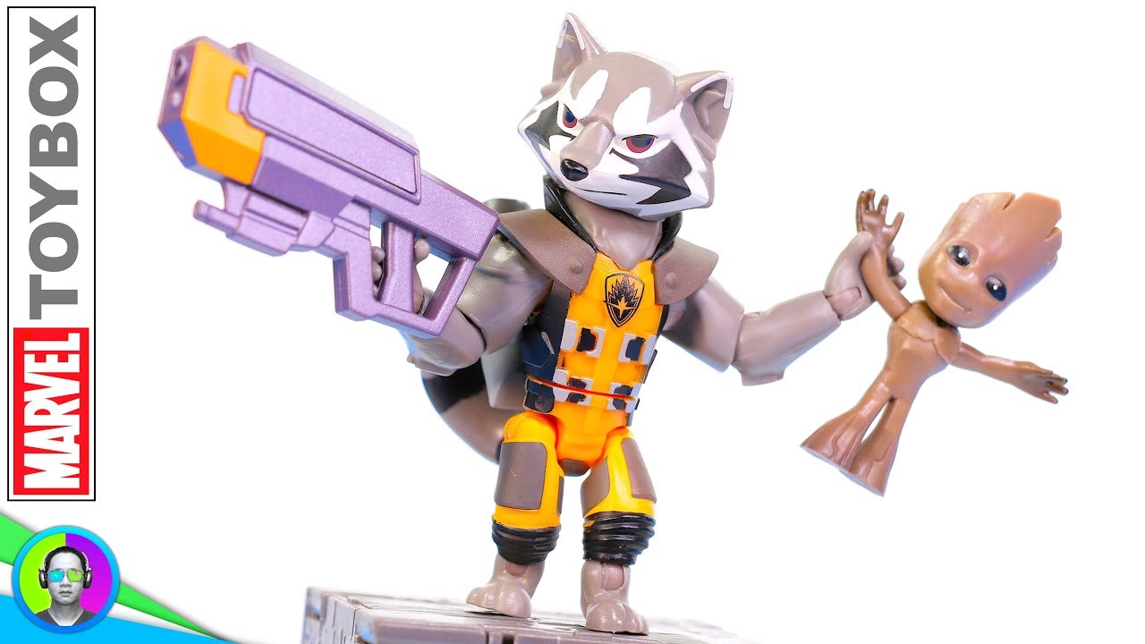 Disney Marvel Toybox ROCKET RACCOON /& Groot Action Figure Figures Set
