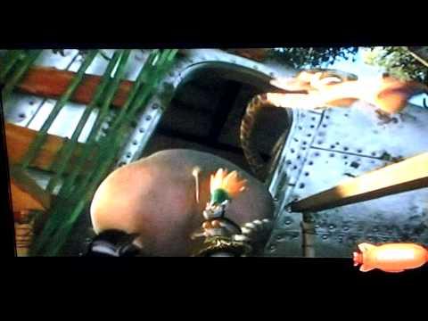 Gloria the hippo's butt gets stuck