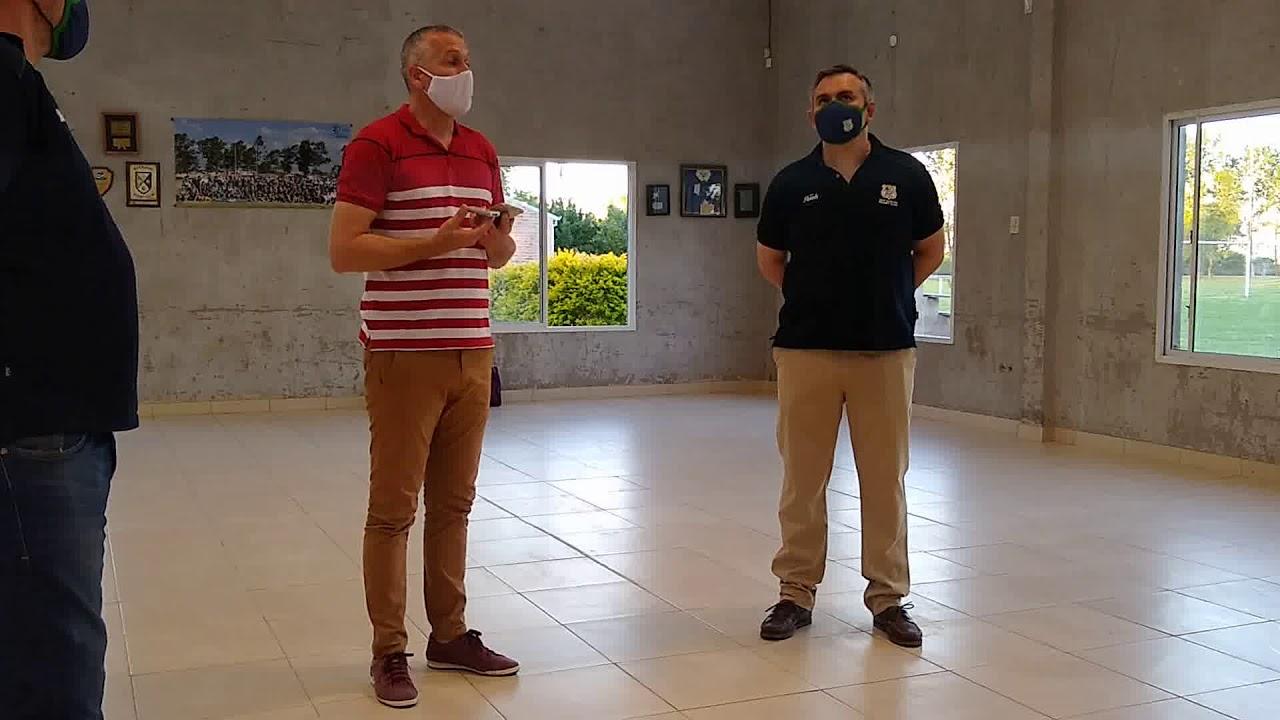 Placenzotti: Inauguraron sanitarios en el San Carlos Rugby Club