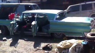 1959 Lincoln mark 5 barn find! First start up in over 20 years