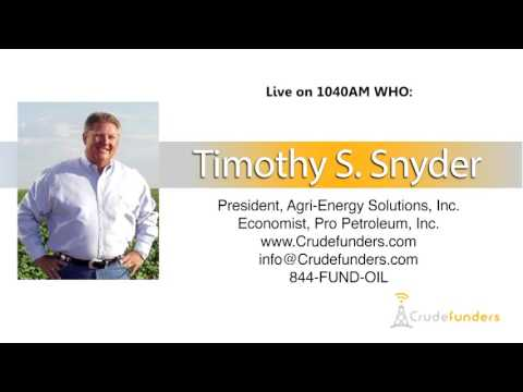 Timothy Snyder, President of Agri-Energy Solutions, Inc live on the radio in Des Moines, Iowa