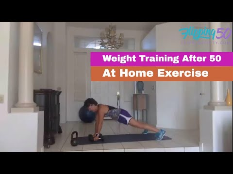At Home Weight Workout for over 50 Females