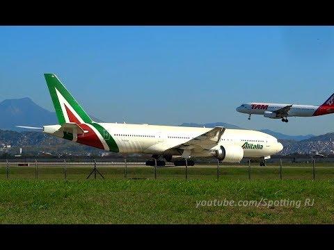 [FULL HD] 777 ALITALIA ~ A340 TAP ~ 777 AIR FRANCE ~ 787 UNITED - A DAY AT GIG PT3