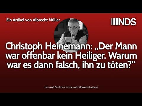 """Christoph Heinemann: """"Der Mann war offenbar kein Heiliger. Warum war es dann falsch, ihn zu töten?"""""""