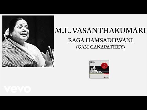 M.L. Vasanthakumari - Raga Hamsadhwani (Gam Ganapathey) (Pseudo Video)