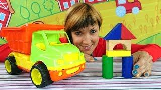 Мультфильм про экскаватор, видео про грузовичок - Веселая Школа - объемные геометрические фигуры(Обучающая детская передача