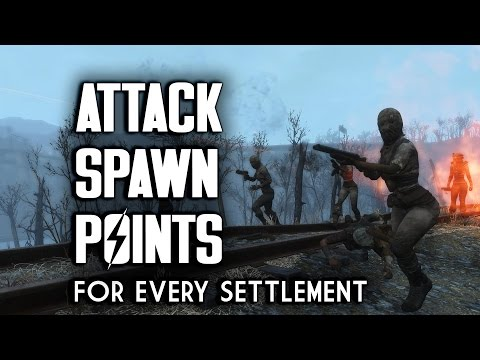 All Attack Spawn Points in Every Settlement - Fallout 4 Sett