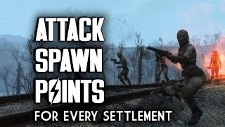 All Attack Spawn Points In Every Settlement Fallout 4 Settlement Defense