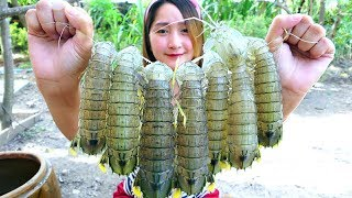 Yummy Mantis Shrimp Cooking Garlic - Mantis Shrimp Stir Fried Recipe - Cooking With Sros