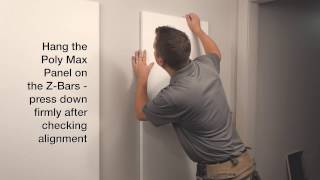 Poly Max Install - Polyester Acoustical Wall & Ceiling Panels