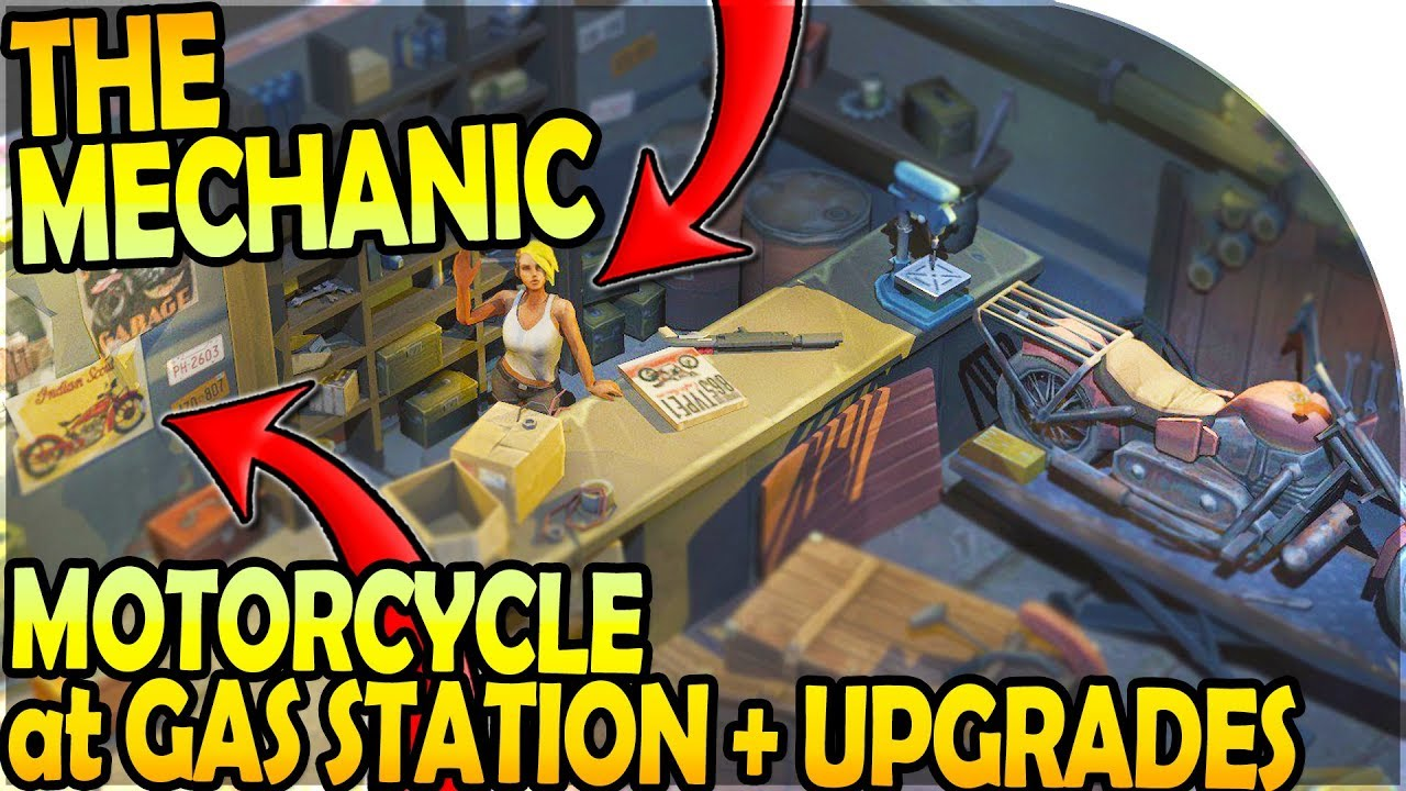 motorcycle at new gas station chopper mechanic inbound last day on earth survival update 1. Black Bedroom Furniture Sets. Home Design Ideas