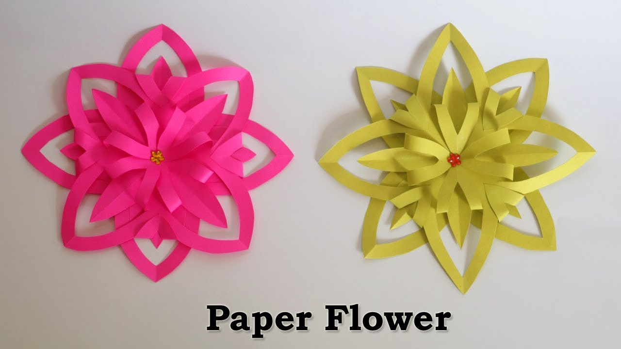 Paper Flowers Easy Paper Crafts Flower Making With Paper Youtube
