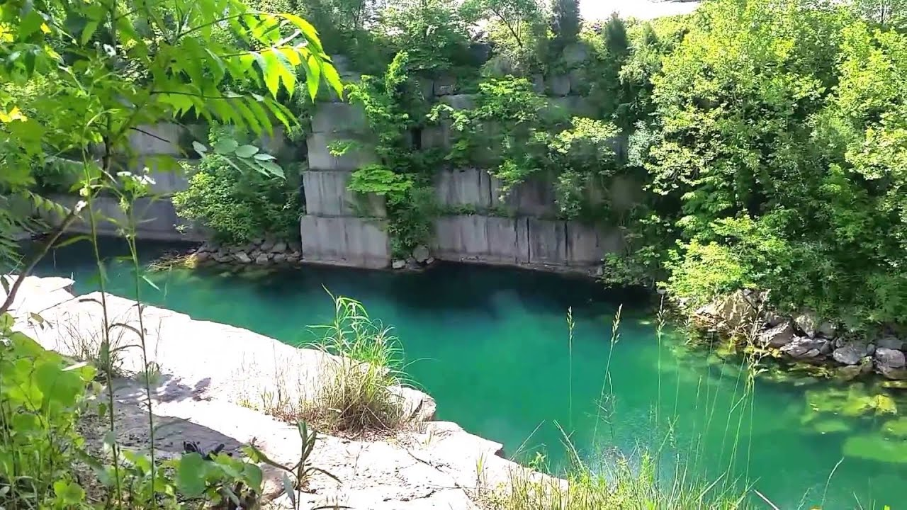 Exploring the Empire Quarry in Bedford, Indiana - YouTube