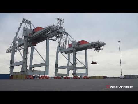 Port of Amsterdam - STS Cranes - Holland Cargo Terminal