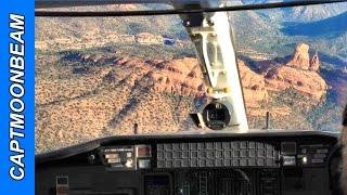 Cessna Citation Landing Sedona: GUSTY WINDS! and Flagstaff Arizona Takeoff HD