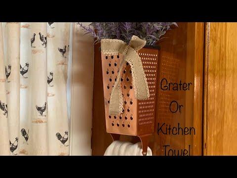 DIY Farmhouse Grater Kitchen Towel Holder: Dream 4
