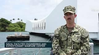 US Navy Teams Survey The USS Arizona Memorial