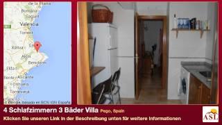 4 Schlafzimmern 3 Bäder Villa zu verkaufen in Pego, Spain
