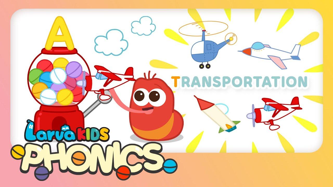 Phonics Word - Episode 'Transportation' | Alphabet Play | Kids English Study | LarvaKids