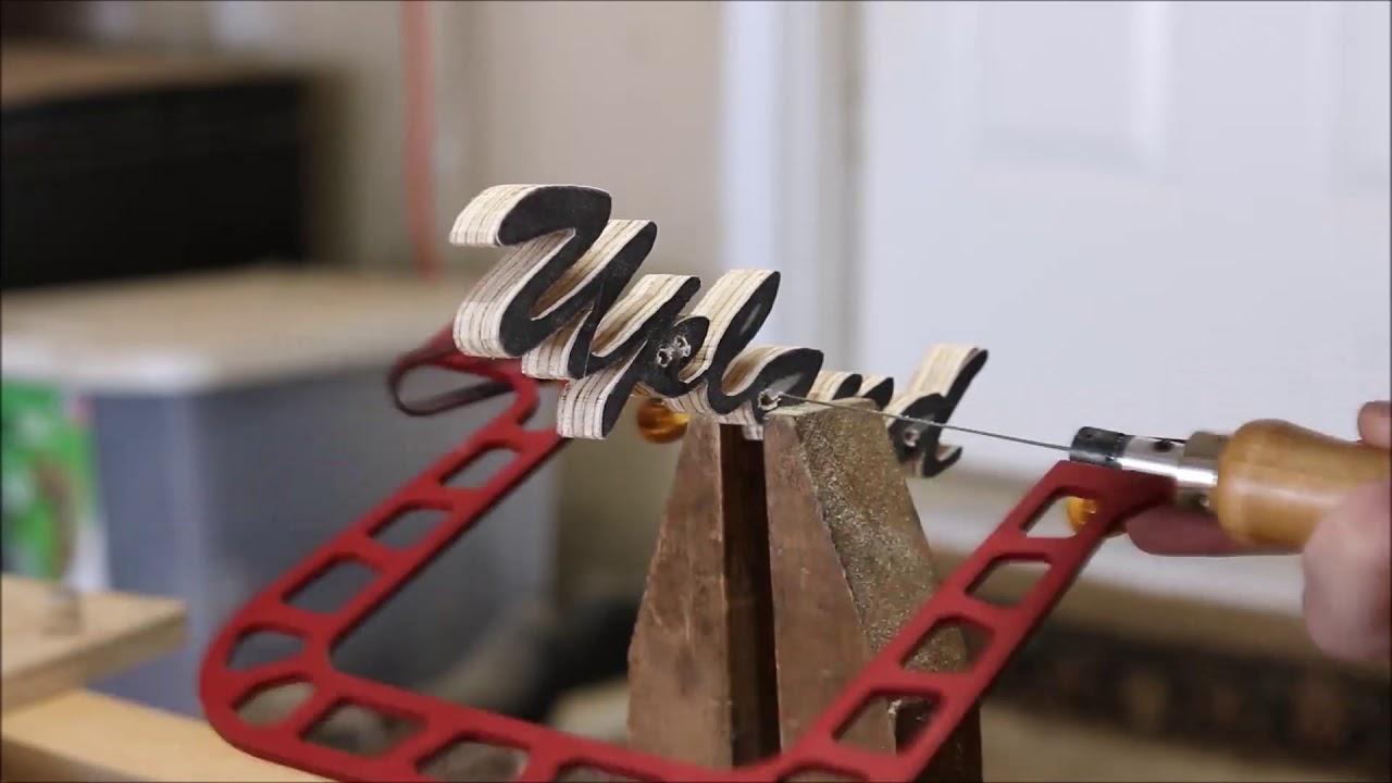 Video cách làm bảng hiệu đẹp từ gỗ