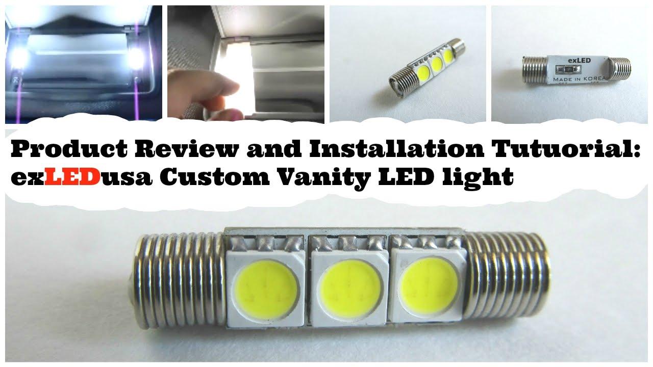 Product Review and Installation tutuorial: exLEDusa Custom Vanity LED light 5K - YouTube