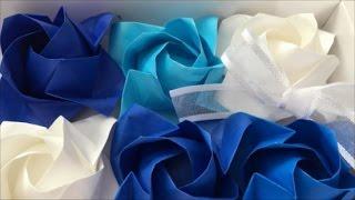 【折り紙】福山ローズを折ってみた Origami Fukuyama Rose