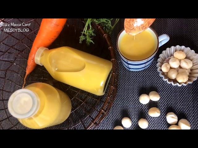 Sữa hạt làm từ macca và cà rốt
