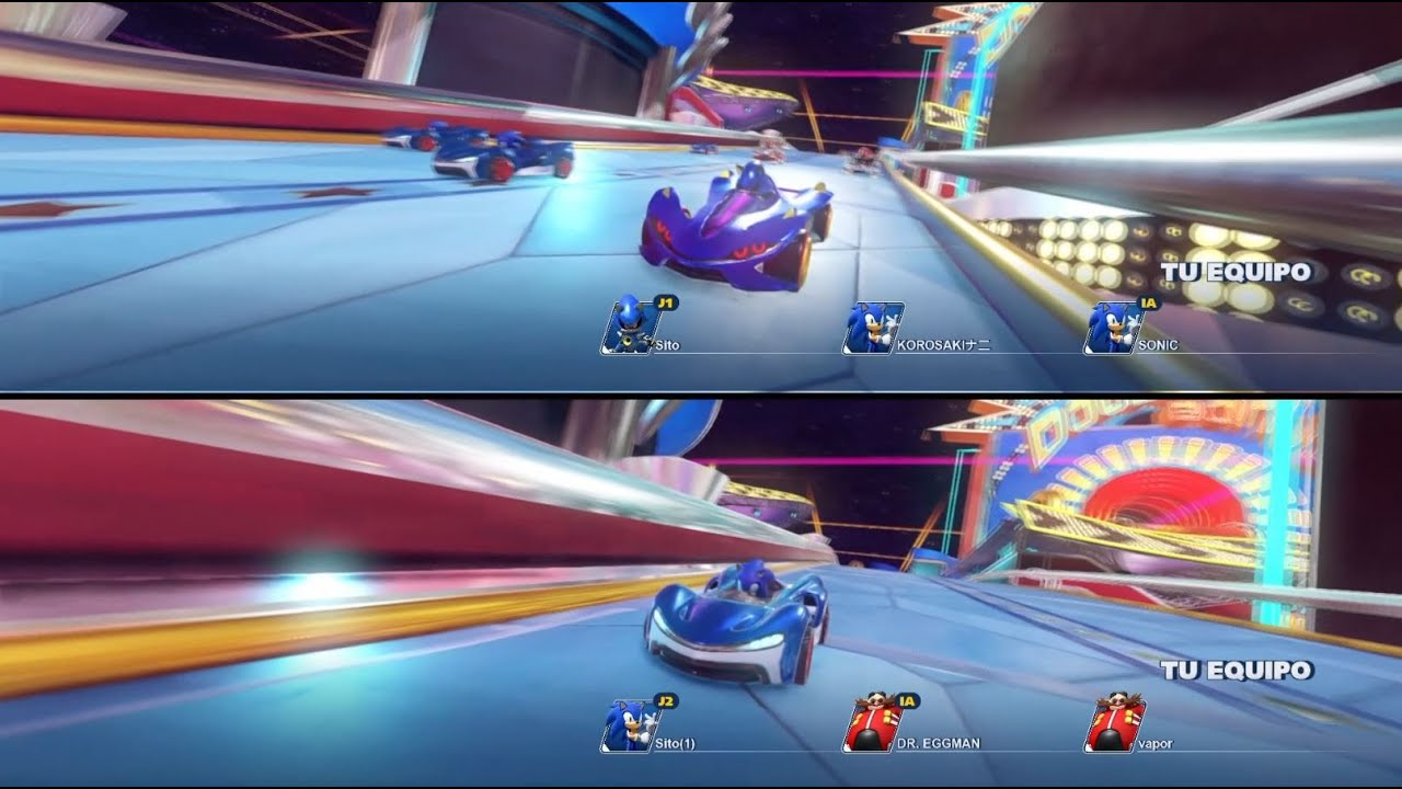 Team Sonic Racing Nintendo Switch 2 Jugadores Online Online 2 Players Gameplay Comentado Youtube