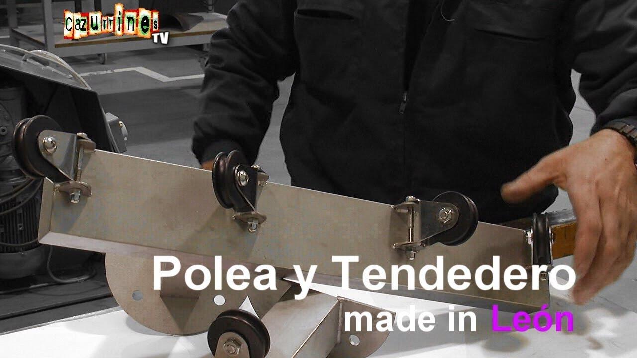 Made in le n fabricamos una polea y un tendedero hecho en le n en cazurrines tv youtube - Como hacer un tendedero de ropa ...