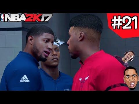 NBA 2k17 My Career - ABOUT TO FIGHT PAUL GEORGE Ep.21
