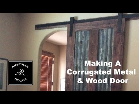 how-to-build-a-sliding-barn-door-with-corrugated-metal-panels