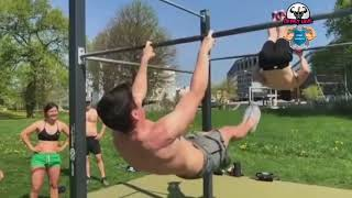 Street Workout NEW! STRONG And CRAZY MOVES 2018😱😱😱 part 2
