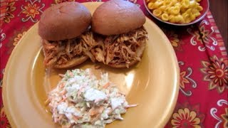 Slow Cooker Sunday: Zesty Barbecued Chicken Sandwiches