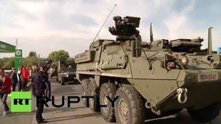 Молдавские депутаты заблокировали колонну военной техники США на въезде в страну