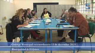 Concejo Municipal extraordinario 13 de diciembre 2019