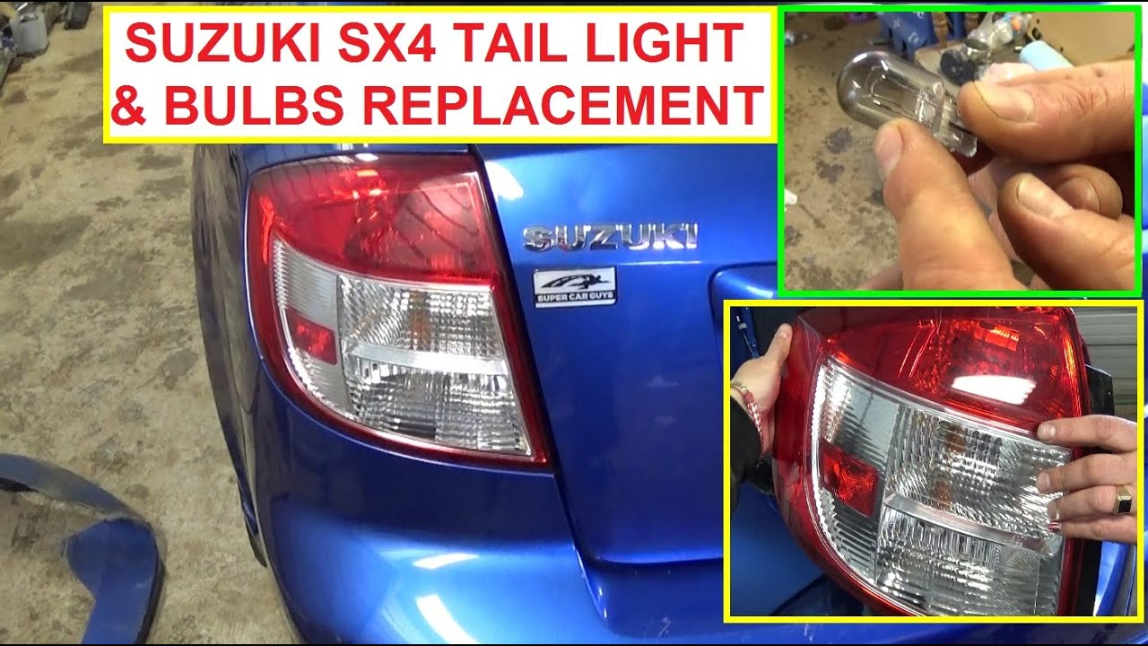 maxresdefault suzuki sx4 tail light replacement, tail light bulb, brake light  at honlapkeszites.co