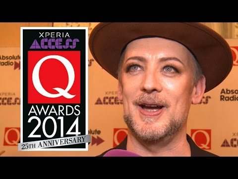 Boy George on the Q Awards red carpet