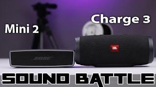 SoundLink Mini 2 vs JBL Charge 3: Sound Battle -The real sound comparison (Binaural Recording)