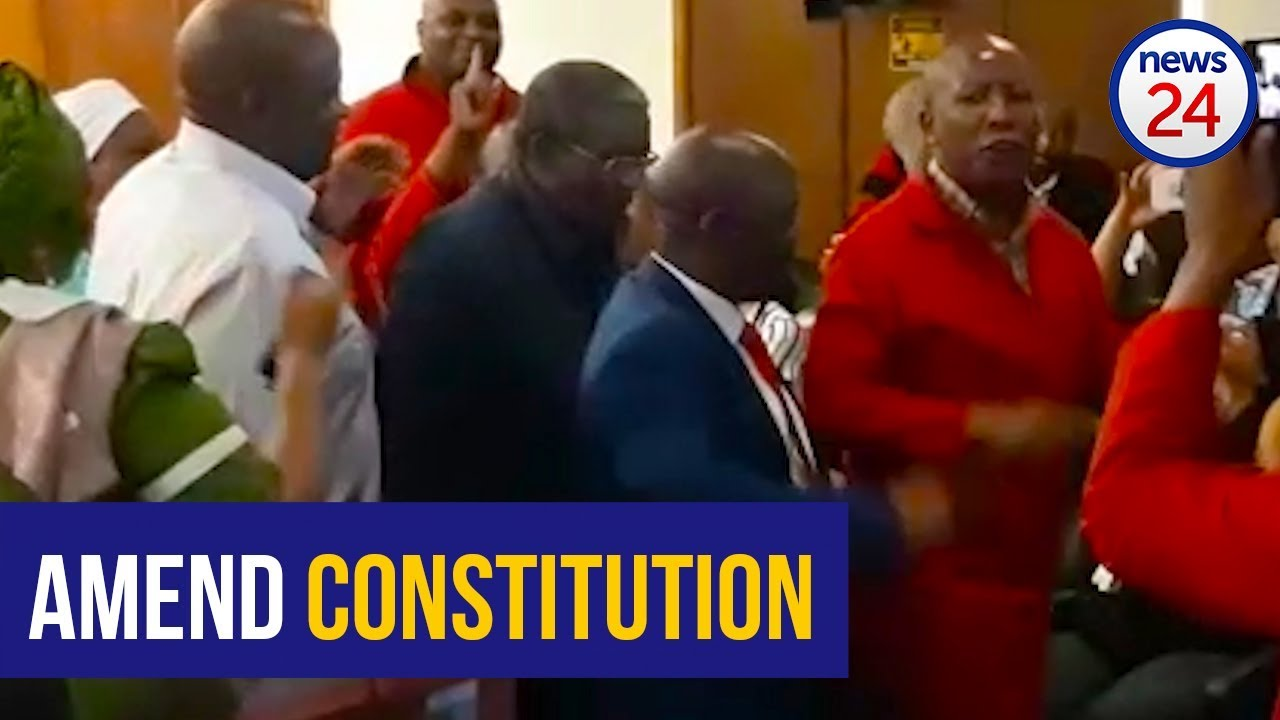 WATCH: Singing in chamber as report that Constitution be amended is adopted
