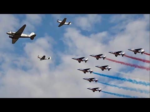 STUNNING Acrobatic Paris Air Show, Patrouille De France [Air Legend ] Melun Villaroche 2019