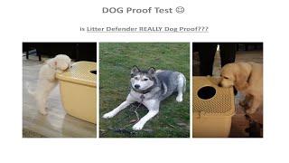 Litter Box for Cats, Dog Proof, Dog Eating Cat Poop Solution Litter Defender 3