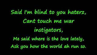 Collie Buddz - Blind To You HQ w/Lyrics on screen