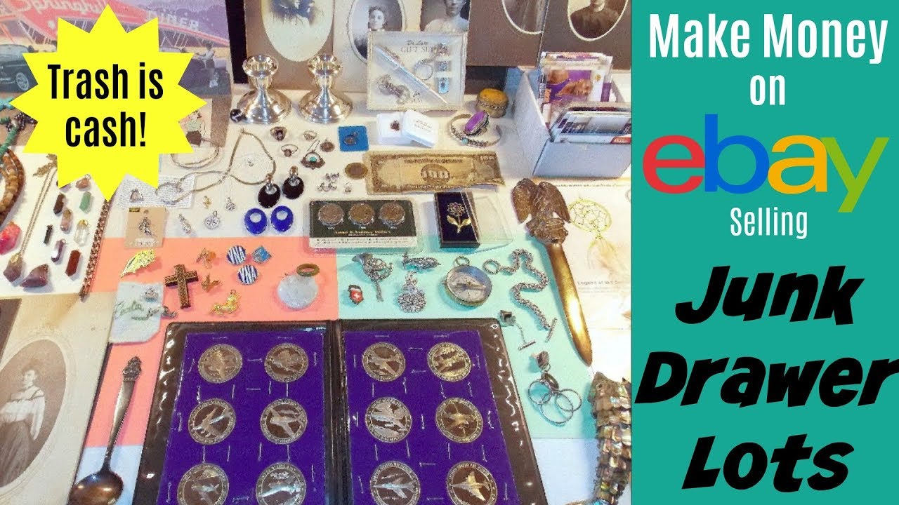 How to Make Money on eBay Selling Junk Drawer Lots - YouTube