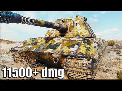 Как играют ТОП статисты на E 100 ✅ World Of Tanks лучший бой 11к урона