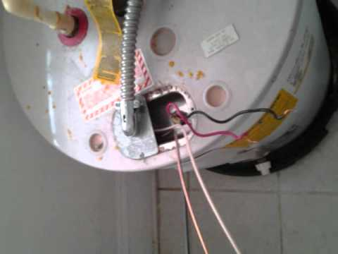 hqdefault hooking up 220v to a water heater wmv youtube Electric Water Heater Circuit Diagram at sewacar.co