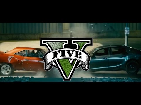 GTA V Fast And Furious 7 Cemetery Chase Scene   Dom Vs Deckard PS4